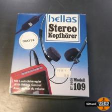 Hellas stereo koptelefoon, nieuw in doos