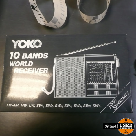 Yoko 10 bands world receiver H 108-A, nieuw in de doos