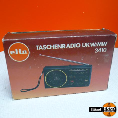 Elta UKW/MW 3410 draagbare radio, nieuw in doos