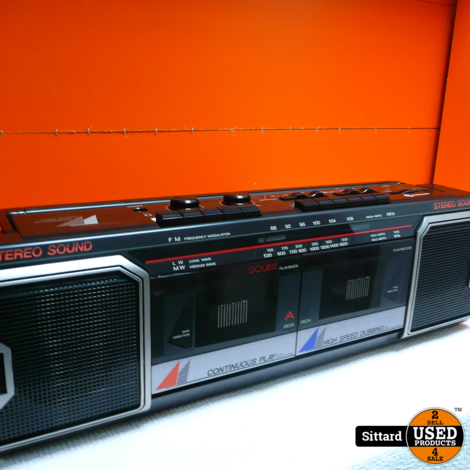 SAMSUNG W-45L 3 band stereo radio dubbele cassette