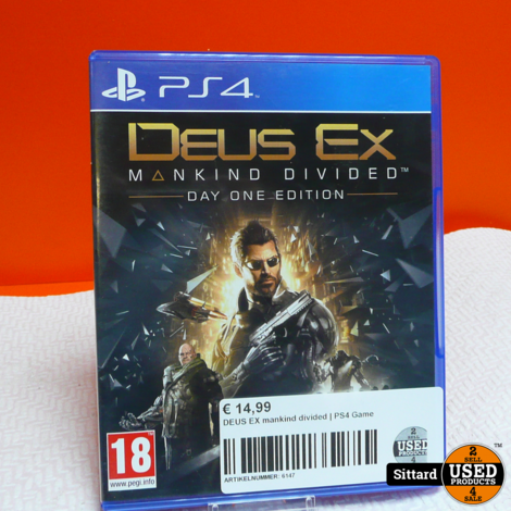 DEUS EX mankind divided | PS4 Game