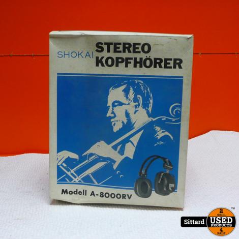 SHOKAI A-8000RV stereo hoofdtelefoon, vintage   NIEUW in doos