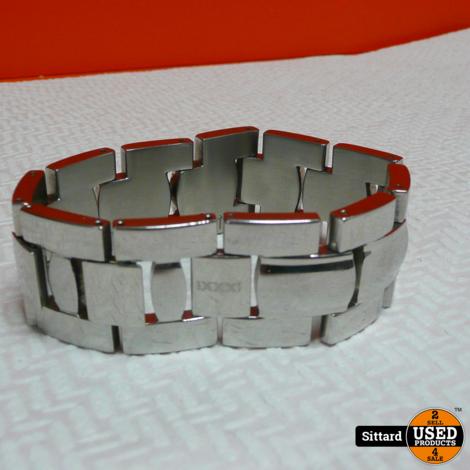 ixxi zilveren schakelarmband