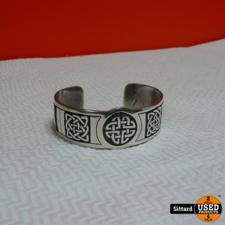 zilveren armband met keltische knopen