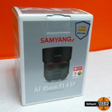 Samyang AF 85mm F 1.4 EF Geschikt voor Canon | Nwpr. 544,- Euro