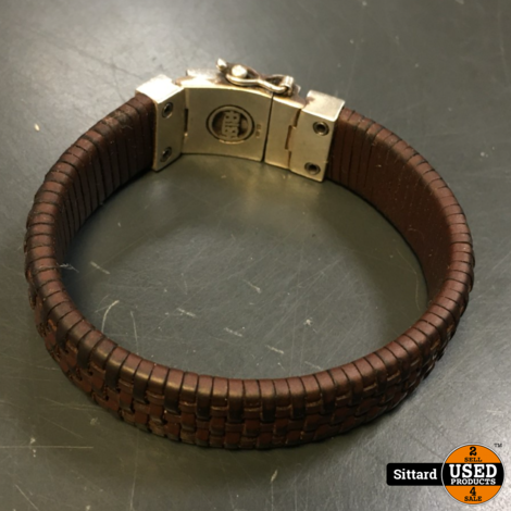 Buddha to Buddha armband, bruin leer, 19 cm. lang | nwpr 189 euro