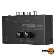 PP500 Ultra-compacte Phono Voorversterker met volumeregeling