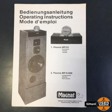 MAGNAT Transpuls MPX-088 met plasma tweeter MP-02, zeer goede staat mét reserve electroden