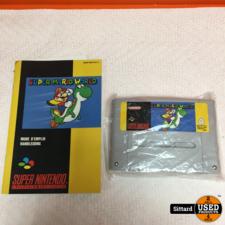 Super Mario World - SNES GAME, in NIEUWSTAAT met boekje, geen doos