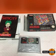 SIM City - SNES GAME, NIEUWSTAAT met boekjes en doos