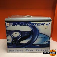 Speedster 2 stuurwiel + pedalen voor PlayStation 1 en 2