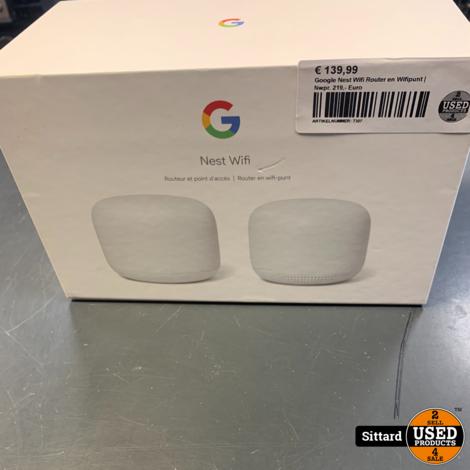 Google Nest Wifi Router en Wifipunt | Nwpr. 219,- Euro