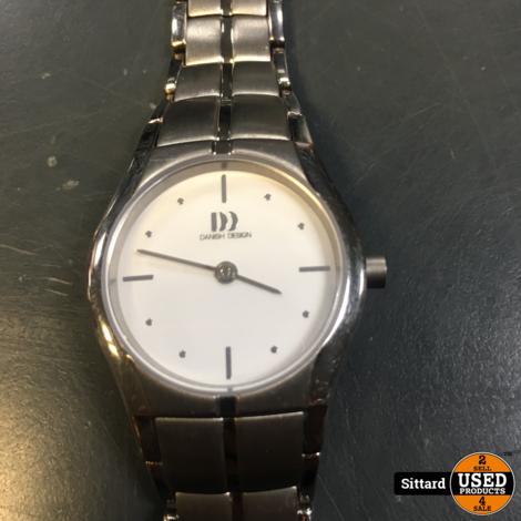Danish Design IV62Q1015 horloge dames - grijs - edelstaal