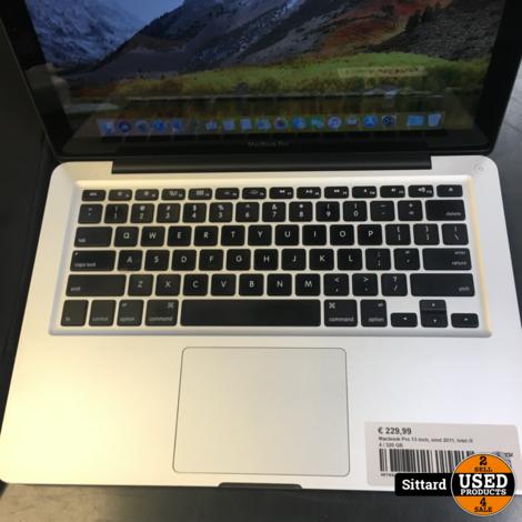 Macbook Pro 13 inch, eind 2011, Intel i5 4 / 320 GB