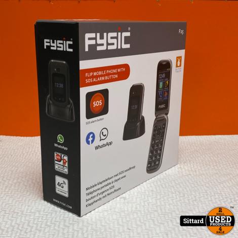 Fysic F25 Senioren Telefoon met 4G en SOS-knop   Nwpr. 134,- Euro