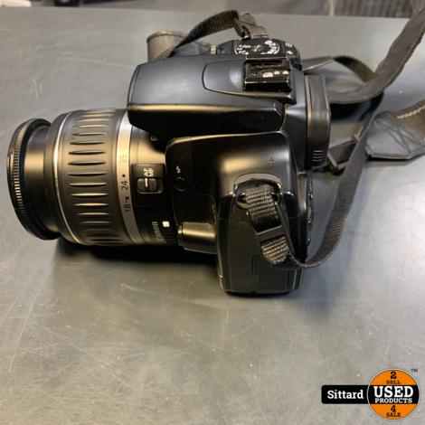 Canon Eos 400D + 2 accu's + acculader + 18-55mm lens