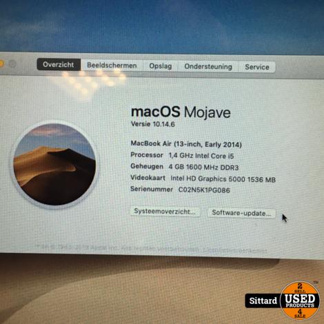 "Macbook Air 13"", begin 2014, Intel i5 1,4 GHz, 4 / 250 GB"