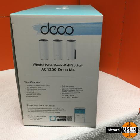 TP-Link Deco E4 - Multiroom Wifi - Mesh Wifi - 3-Pack - Wit | NIEUW