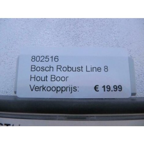 Bosch Robust Line 8 Hout Boor