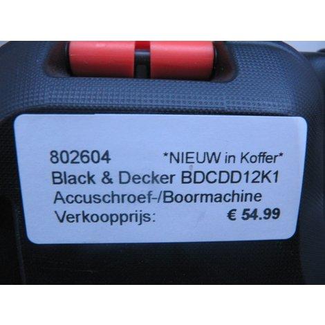 Black & Decker BDCDD12K1 Accuschroef-/Boormachine