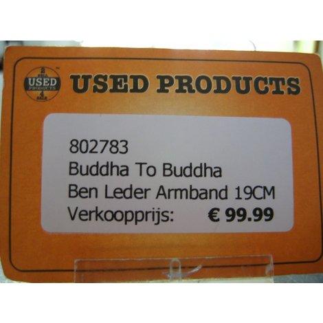 Buddha to buddha Ben Leder Armband 19CM