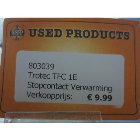 Trotec TFC 1E Stopcontact Verwarming