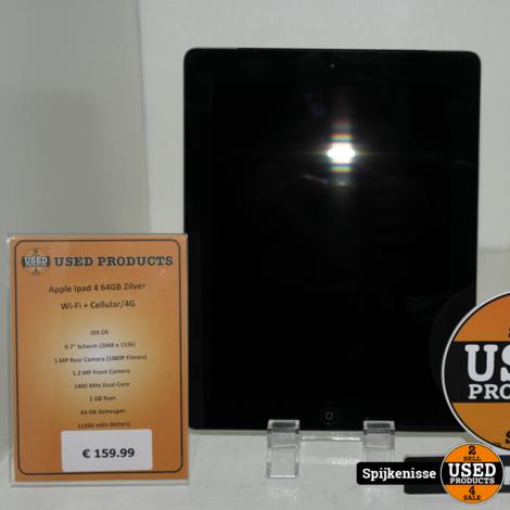 Apple Ipad 4 64GB Zilver