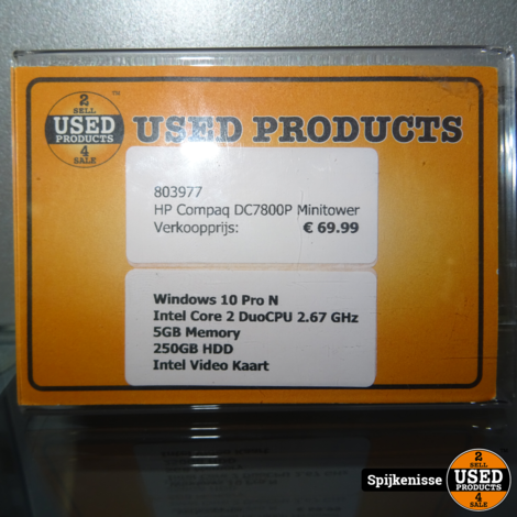 HP Compaq DC7800P Minitower *803977*