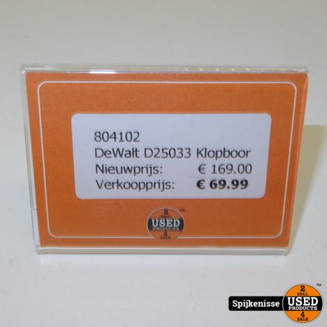 DeWalt D25033 Klopboor *804102*
