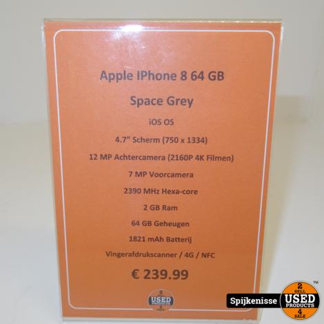 Apple IPhone 8 64GB Space Grey *804088*