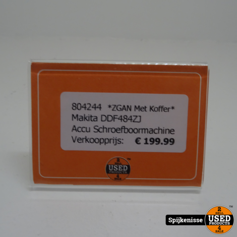Makita DDF484ZJ Accu Schroefboormachine ZGAN *804244*