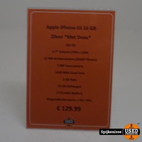 Apple iPhone 6S 16GB Zilver *804289*