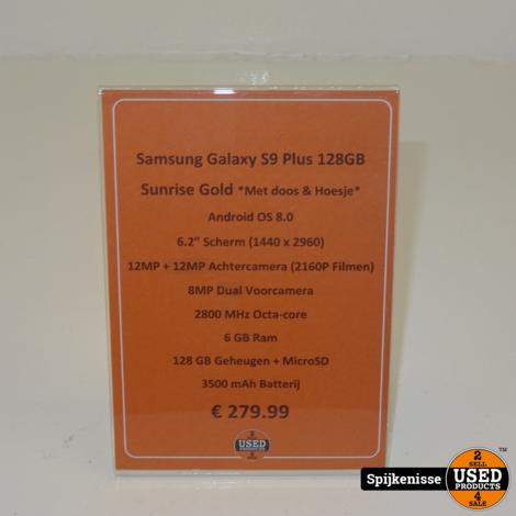Samsung Galaxy S9+ 64GB Sunrise Gold *804481*