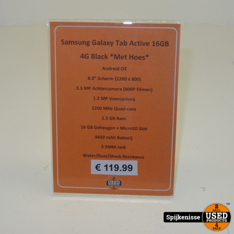 Samsung Tab Active 16GB 4G Black *804016*