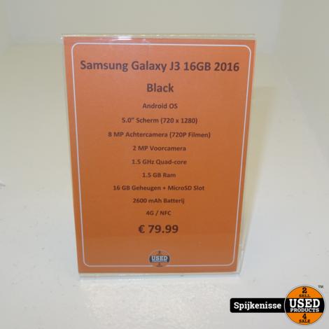 Samsung Galaxy J3 16GB 2016 Black *804525*