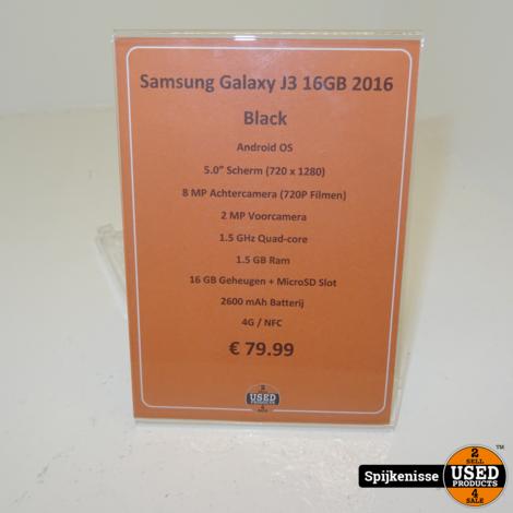 Samsung Galaxy J3 16GB 2016 Black *804526*