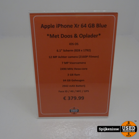 Apple iPhone Xr 64GB COMPLEET Blue *804577*
