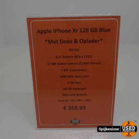 Apple iPhone Xr 128GB Blue DOOS/OPLADER *804542*