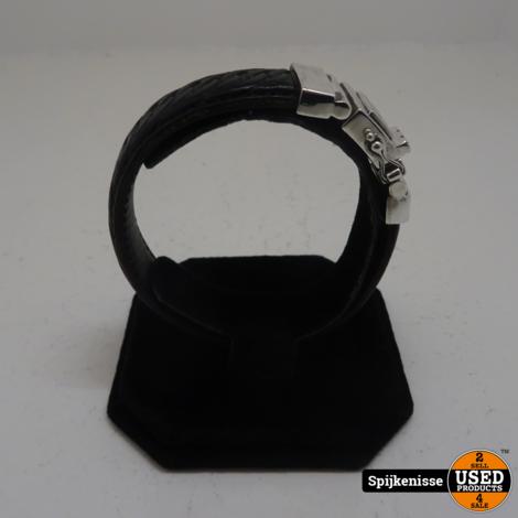 Buddha To Buddha Chain Leather Armband *803172*