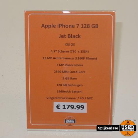 Apple iPhone 7 128GB Jet Black *804570*