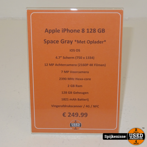 Apple iPhone 8 128GB Space Gray *804659*
