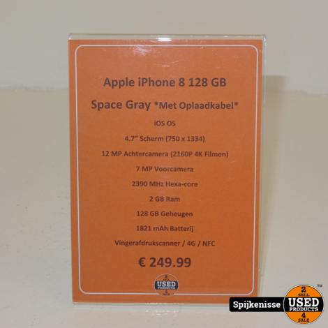 Apple iPhone 8 128GB Space Gray *804658*