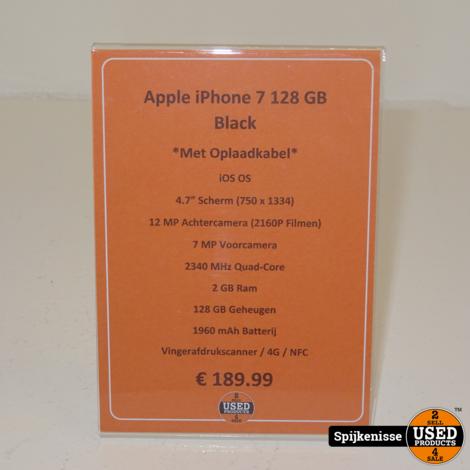 Apple iPhone 7 128GB Black *804656*