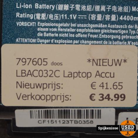 LBAC032C Laptop Accu *797605*