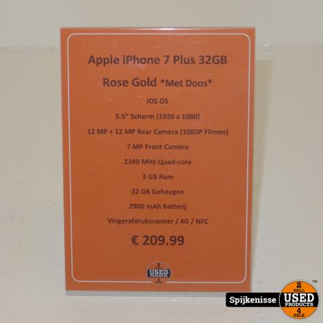 Apple iPhone 7 Plus 32GB Rose Gold *804666*