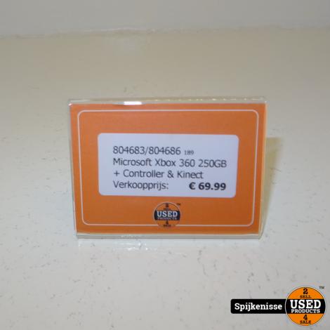 Microsoft Xbox 360 250GB + Kinect en controller *804683*