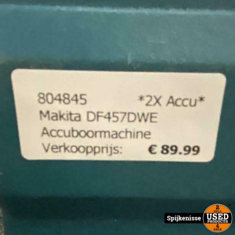Makita DF457DWE Accuboormachine *804845*