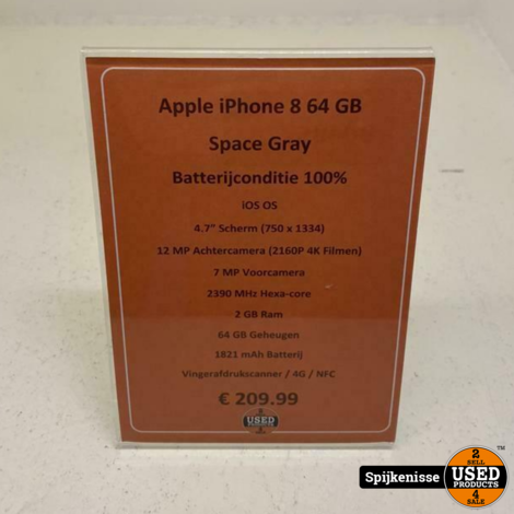 Apple iPhone 8 64GB Space Gray *804857*