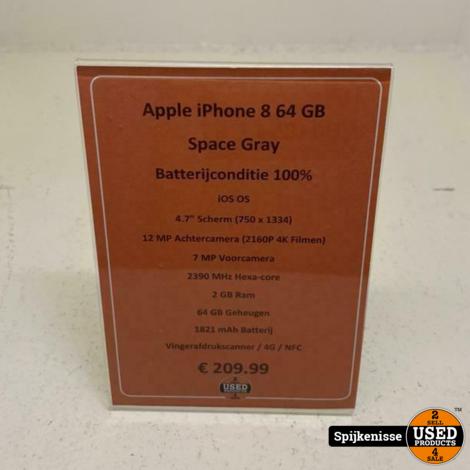 Apple iPhone 8 64GB Space Gray *804854*