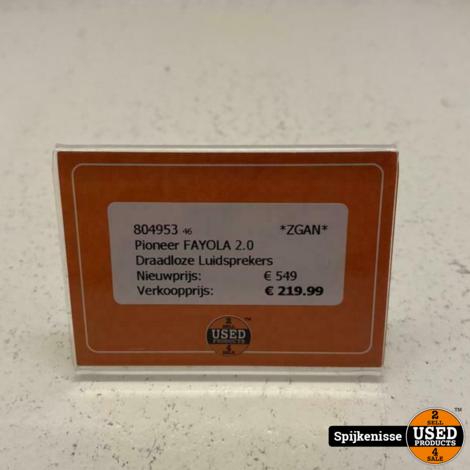 Pioneer FAYOLA 2.0 Draadloze Luidsprekers ZGAN *804953*